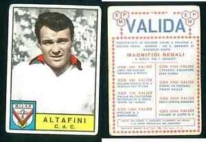ALTAFINI-MILANO-ITALIA-Calcio-ed-PANINI-ORIGINALE-1963-64-NOVELLINO-non-utilizzato