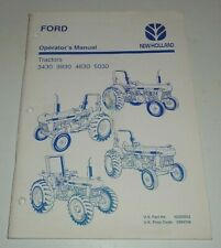 Ford 3430 3930 4630 5030 Tractor Operators Owners Manual Original 696 Nh