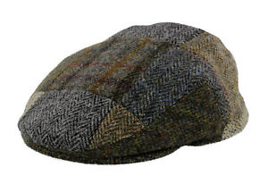 Image is loading Failsworth-Harris-Tweed-Patchwork-Flat-Cap d90f5f147b4