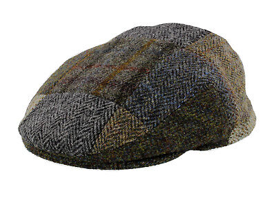 Failsworth Harris Tweed Patchwork Flat Cap