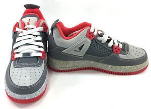 La foto se está cargando Zapatos-Nike-Air-Jordan-4-AJF4-Gris-Blanco-
