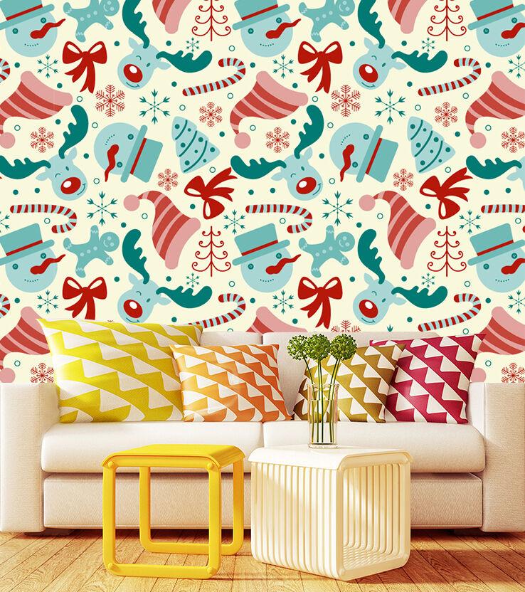 Mega 3D Christmas Pattern 465 Wall Paper Wall Print Decal Wall Deco Indoor Wall