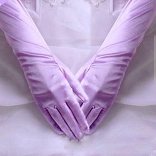 NOUVEAU Chaussures Femme Satin Long Gants Opéra Robe de Mariage Soirée Bal Costume