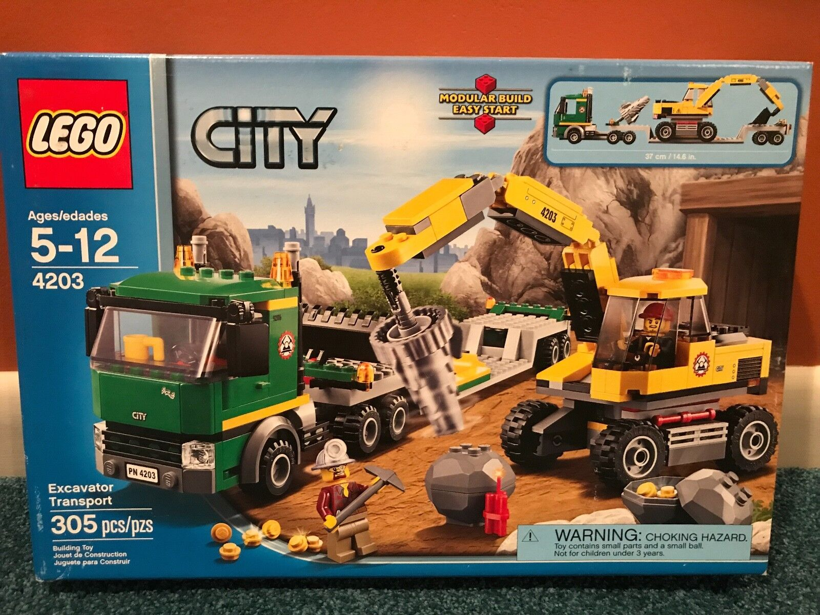 Lego City 4203 Excavator Transport Mining Truck NIB, Unopened, Unused