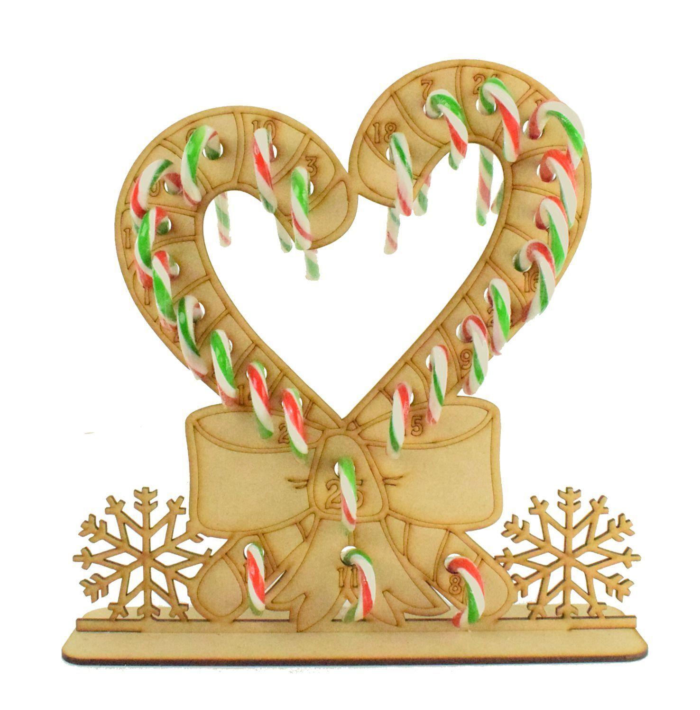 CANDY Cane Cuore con fiocco Calendario dell'Avvento Bambini Avvento dolci dolci dolci fa164f