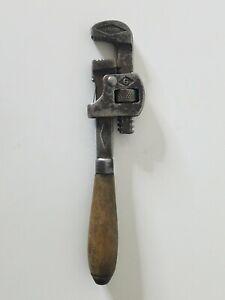 Vintage-Genuine-Stillson-6-034-Pipe-Wrench-Wooden-Handle-Walworth-Mfg-Boston-USA