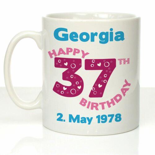 Personalised 35th 36th 37th 38th 39th Birthday Mug Female Mum Aunt Birthday Gift