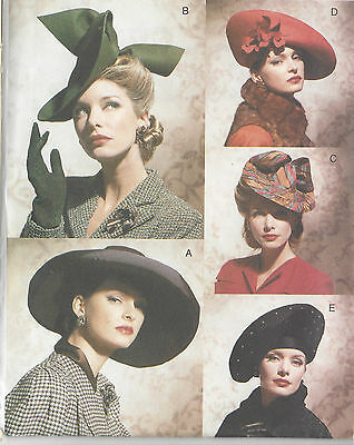 1930s & 1940s Vintage Sewing Pattern HATS ONE SIZE (1098)