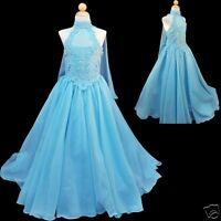 Girl National Pageant Wedding Party Formal Dress 7,8,10,12,14 Teens Blue