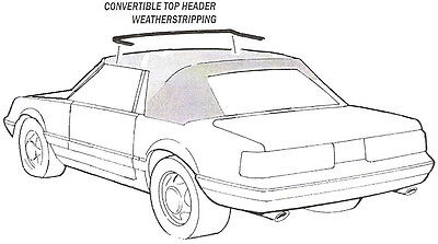 1985-1993 Mustang Convertible Front Header Bow Weatherstrip Seal