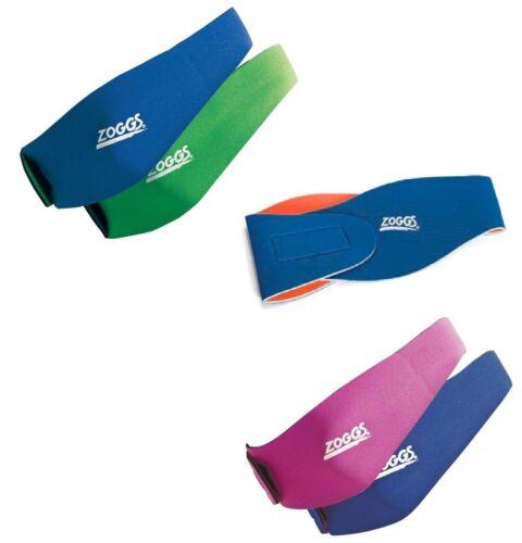 Zoggs Junior Reversible Ear Band Blue//green Pink//Blue /& Blue//Orange