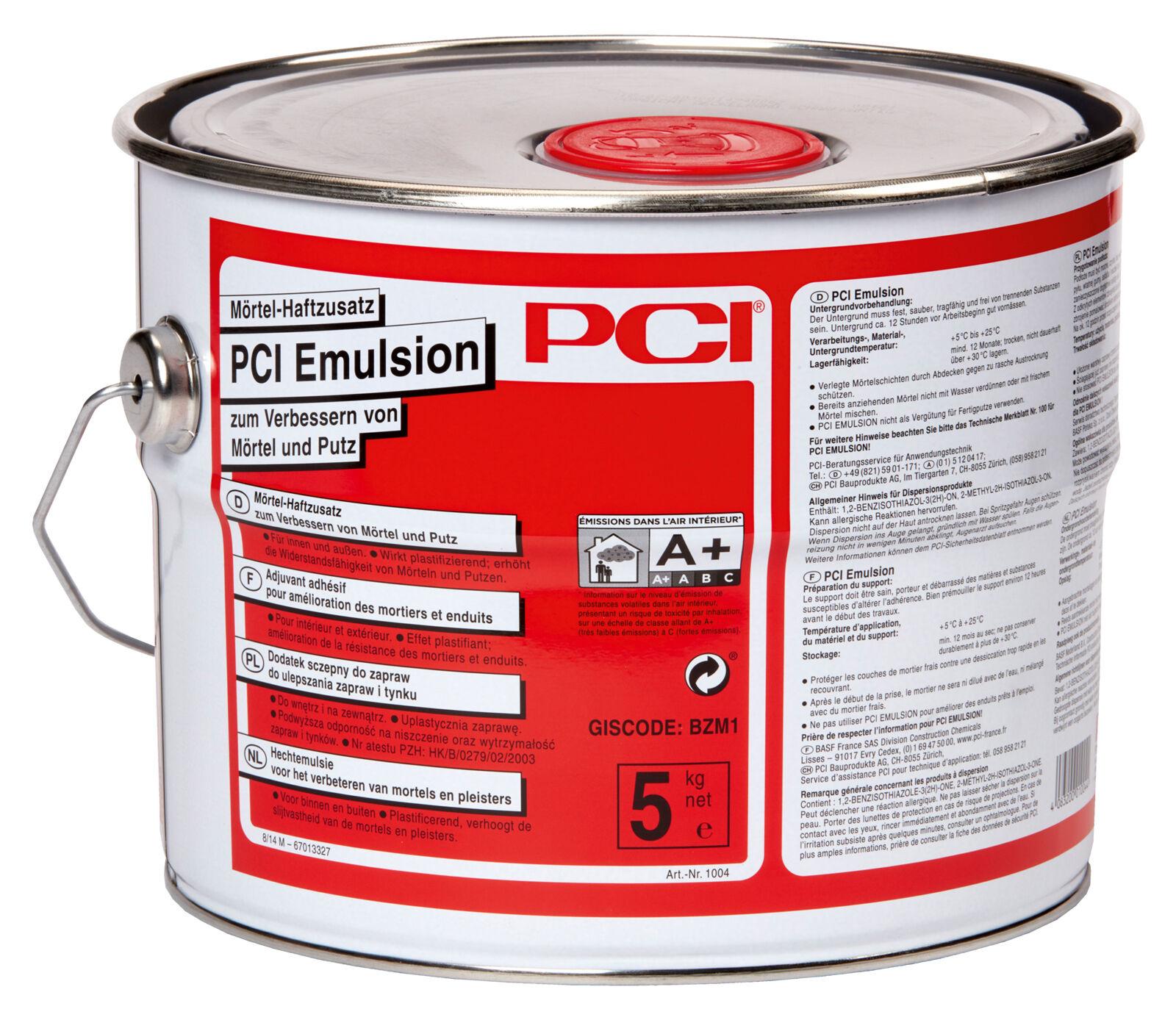 PCI Emulsion 5 kg Mörtel-Haftzusatz zum Verbessern von Mörtel und Putz