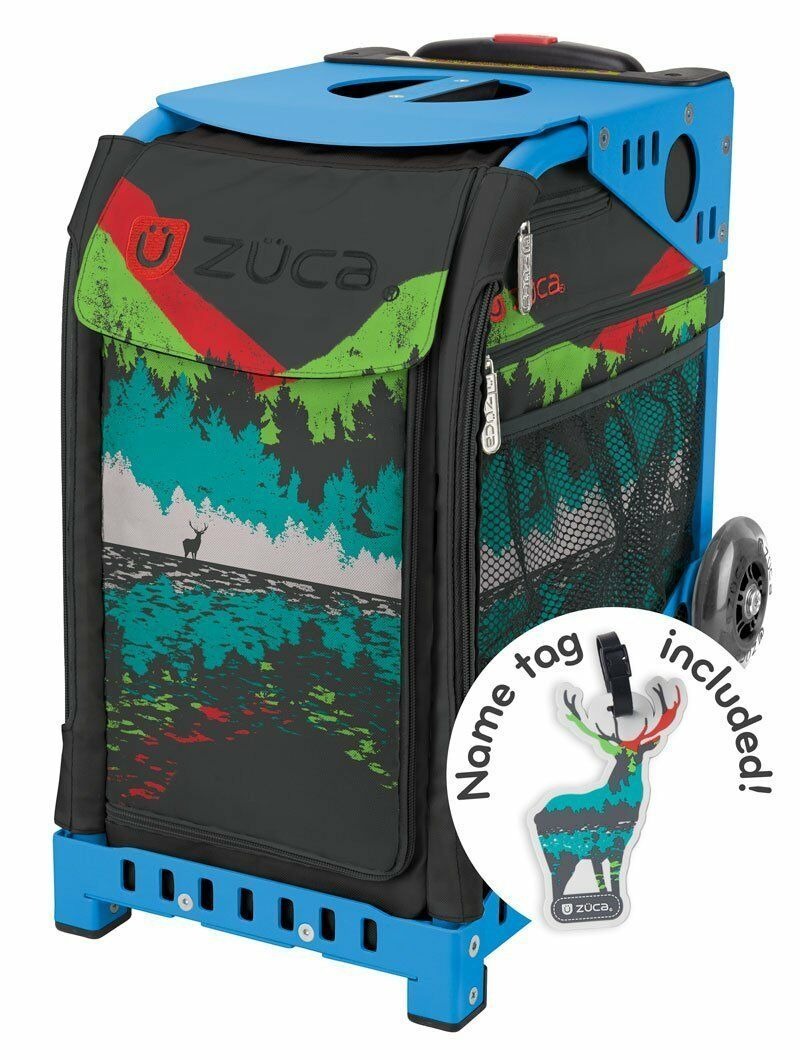 Zuca Into the  Woods Sport Insert Bag & bluee Frame with Flashing Wheels  100% brand new with original quality