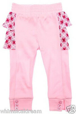 Lucky Jade baby girl 0/3M & 3/6M 000 00 pink floral ruffle back leggings pants