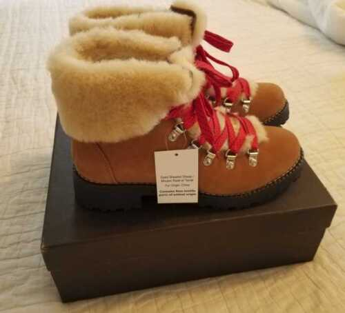 NEW WOMENS 6 7 8 9 10 11 J CREW NORDIC WINTER BOOTS SHEARLING GLAZED PECAN BROWN