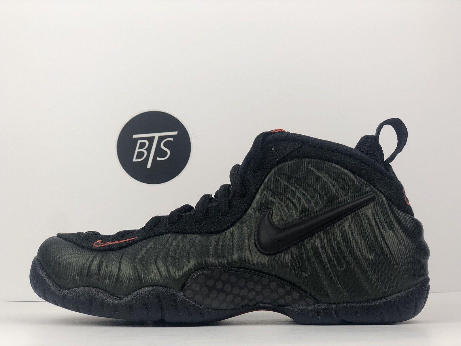 "Men's Nike Air Foamposite Pro ""Sequoia"" Size-11 Green Black orange 624041 304"