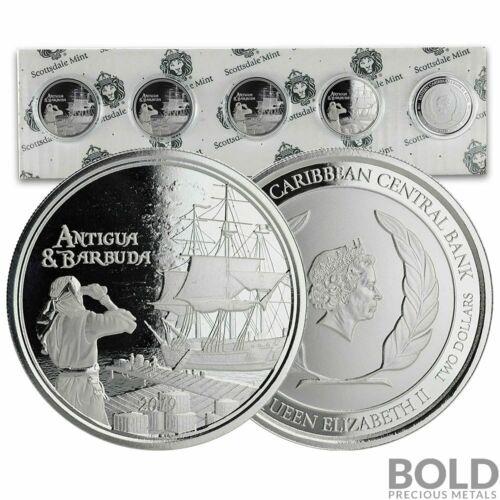 2019 Antigua /& Barbuda Silver Rum Runner 1 oz 5 Coin Pack