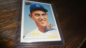 2006-TOPPS-ALL-TIME-FAN-FAVORITES-CLEM-LABINE-AUTOGRAPHED-BASEBALL-CARD