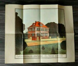 GFA-Blatt-Wohnhaus-1926-Architektur-Hausansicht-Lithographie-Haus-43-5x36-5cm