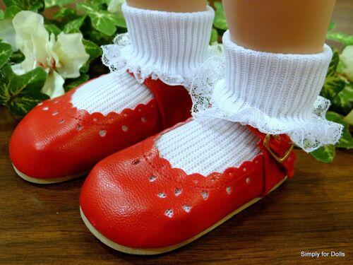 "MY TWINN Red Heart-Cut MARY JANE DOLL Dress SHOES fits 23/"" Poseable Doll"