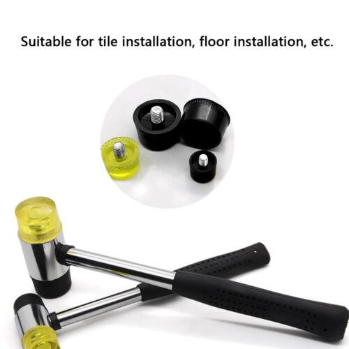 Rubber Hammer Mallet Soft Double Face Head Tools Floor//Ceramic Tile Dia 25//30mm