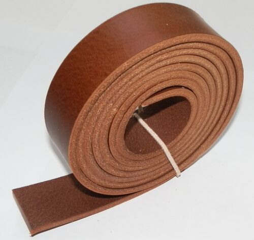ITALIAN LEATHER BELT BLANKS MID BROWN 3.5MM THICK VEG TAN  58 INCH 147CM LONG