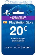 PlayStation PSN Tarjeta Prepago 20€ - 20 Euro Sony PS3 PS4 PS Vita Código - ES