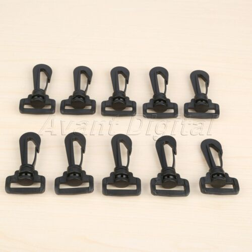 10pcs Plastic Swivel Snap Hooks Buckle Hardware Outdoor Backpack Straps Parts