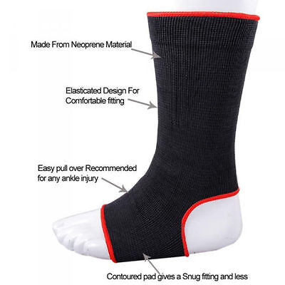 MMA Thai Ankle Supports Kango Fitness MMA Compression Kick Boxing Wraps Pair