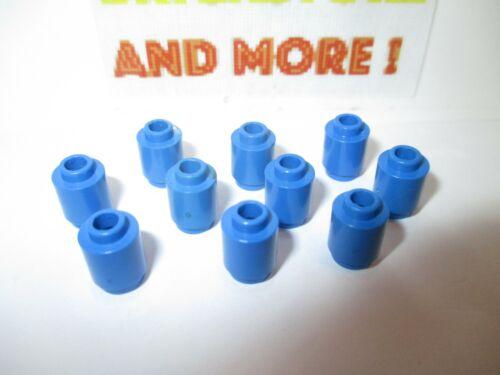 10x Brick Round Brique Ronde 1x1 Open Stud 3062 Bleu//Blue//Blau Lego