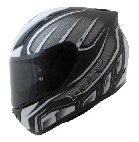 MT Revenge Alpha Motorcycle Helmet Matt Black White Motorbike Crash Lid Scooter