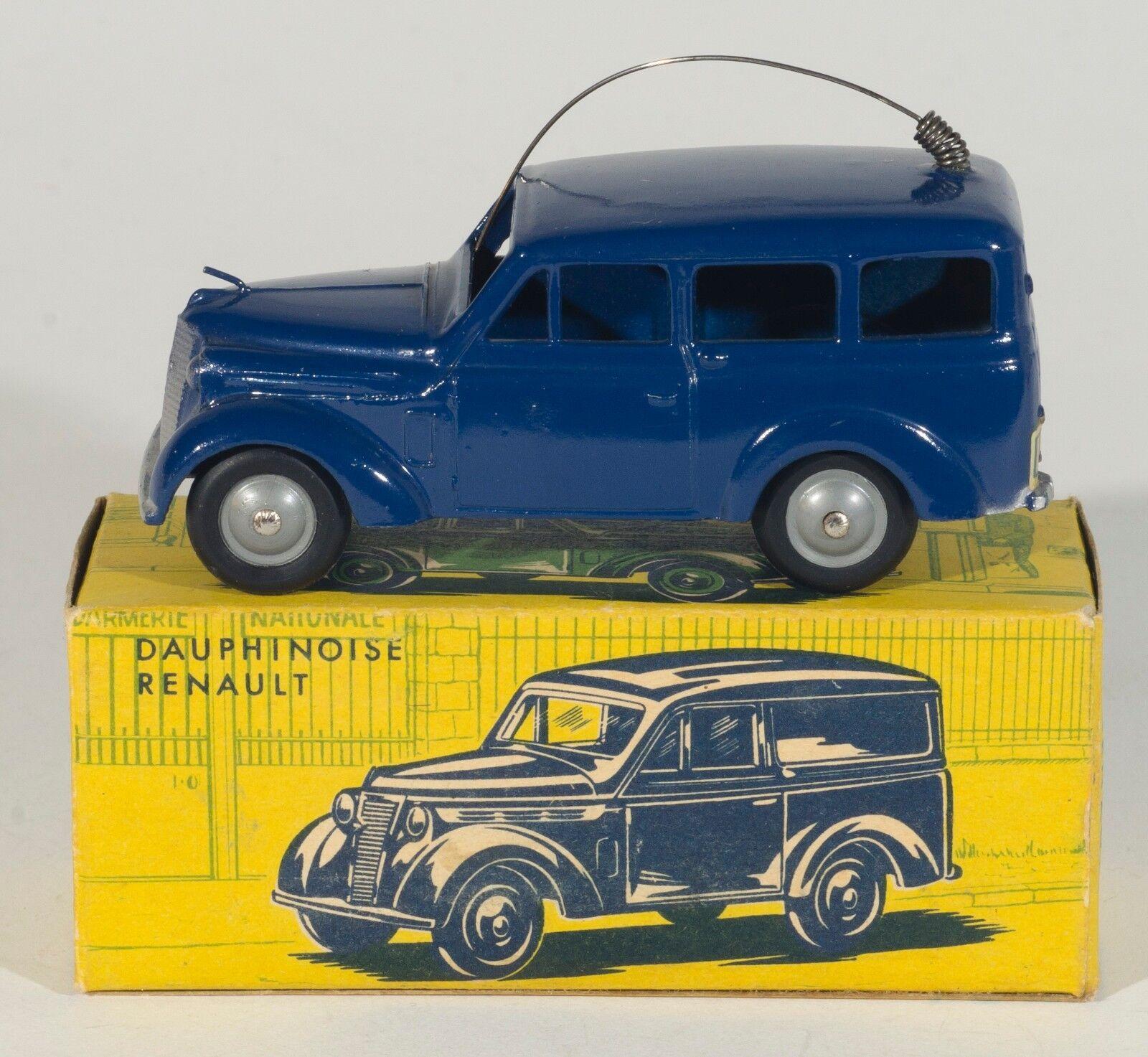 CIJ 3  66 Dauphinoise Renault POSTES Van.DK.Blått.Mint  lådaed.Ursprungliga 1950 -tal