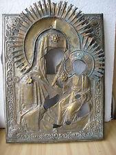 Ikone,Antique Russian Orthodox icon riza,,Virgin of Smolensk,, from 19c.