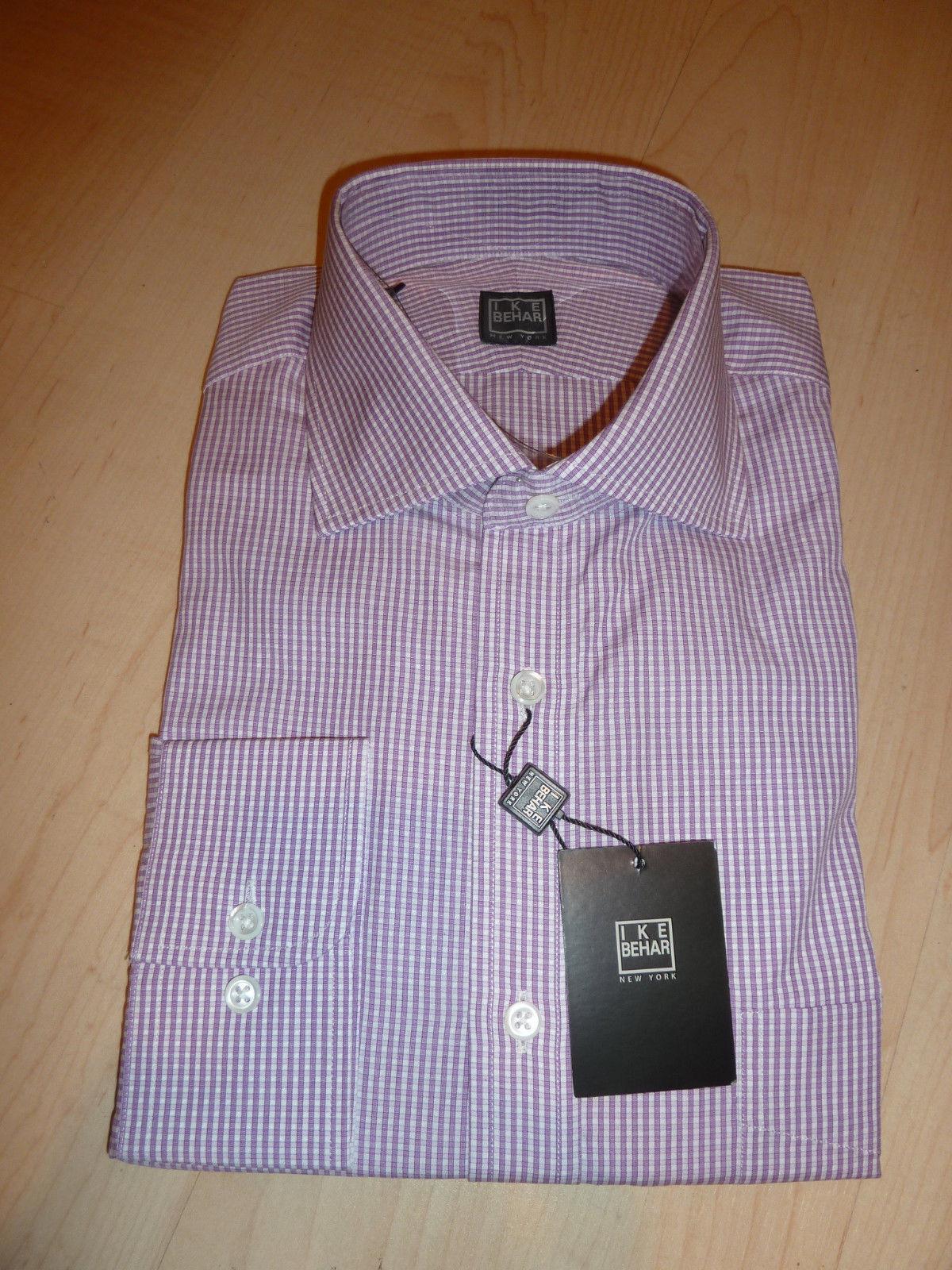 NEW  IKE BEHAR MENS SHIRT Sz 16 34 35 Cotton Purple Concord BC