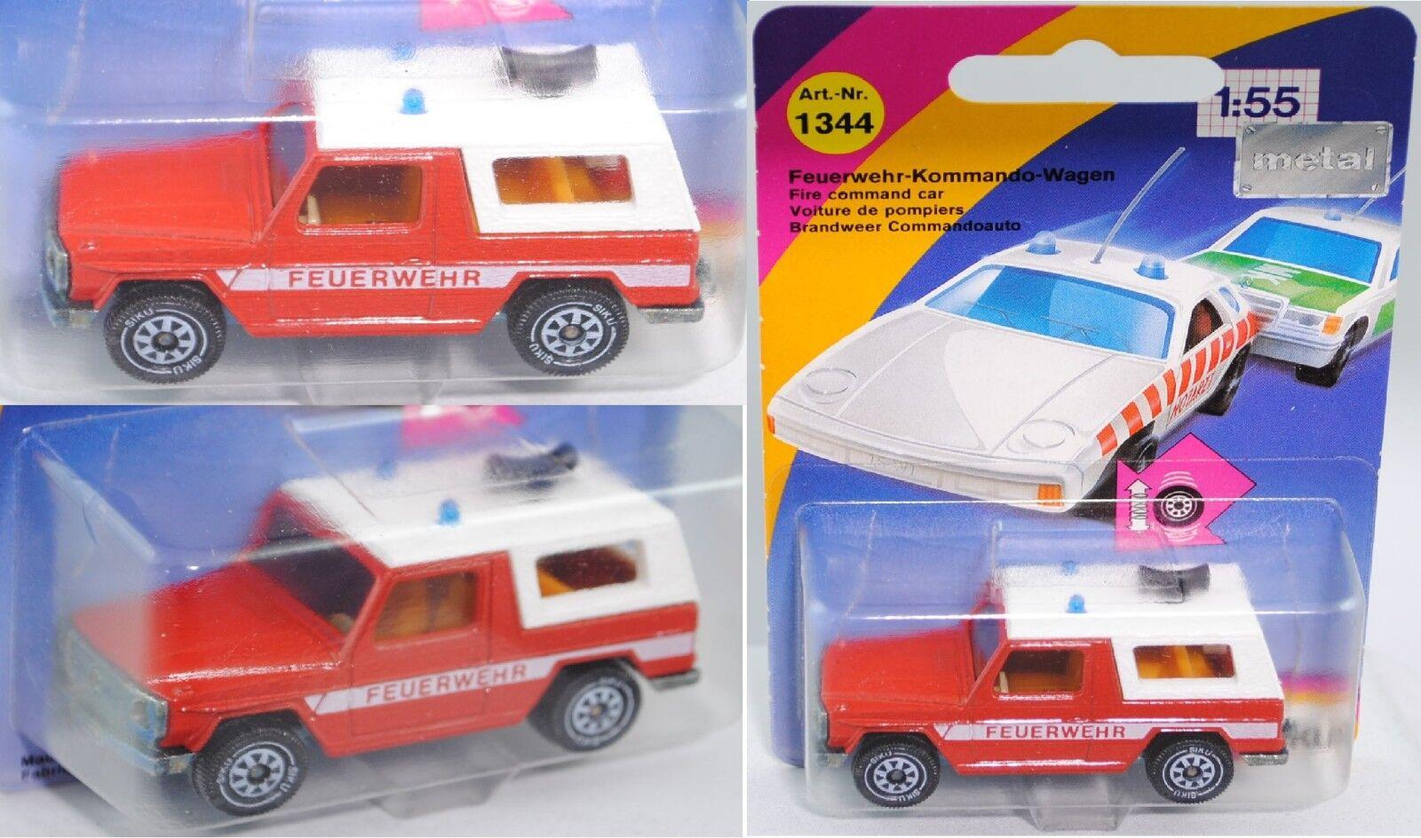Siku Super 1344 Mercedes-Benz Mercedes-Benz Mercedes-Benz 280 GE Feuerwehr-Kommandowagen ca. 1 56    Erlesene Materialien  2c32d5