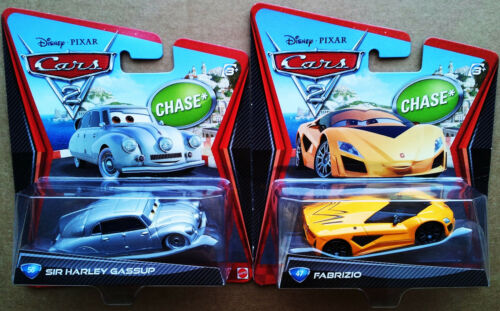 Lot of 2 Disney Pixar Cars 2 Chase Fabrizio & Sir Harley Gassup - 2012 Release
