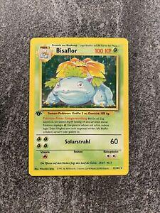 1st Edition Bisaflor German Venasaur Holo Rare Pokemon Card Base Set 15/102