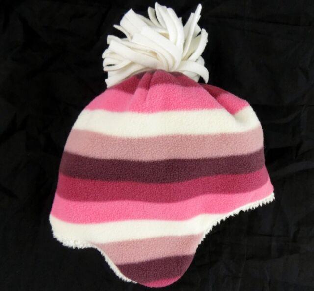 NWT Baby GAP Pink Stripes Pro Fleece Sparkle Mittens Gloves NEW XS 12-24 mos 2 3