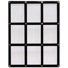 9 TRADING CARD BLACK FRAME SCREWDOWN ULTRA CLEAR HOLDER by ULTRA PRO
