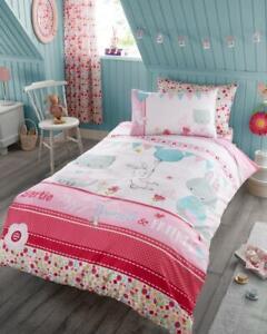 Bunny-Cat-Rabbit-Duvet-Cover-Pink-Quilt-Bedding-Kids-Children-Girls-Single-Set