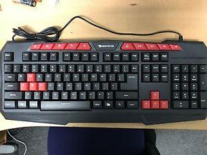0482e217299 Image is loading iBUYPOWER-GKB100-Gaming-Keyboard -Spill-resistant-Gamdias-Black-