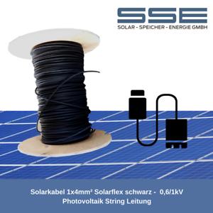Solarkabel 1x4mm² Solarflex schwarz 0,6//1kV Photovoltaik String Leitung