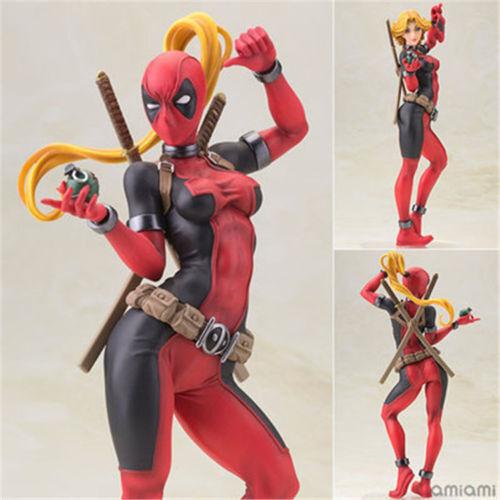 Marvel Bishoujo Statue X-Men Lady Deadpool PVC Figure Figurine Statue New In Box