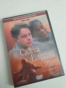 dvd-CADENA-PERPETUA-precintado-nuevo-T-ROBBINS-Y-M-FREEMAN-e-remasterizada