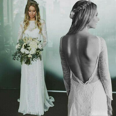Boho Beach Wedding Dress Tulle Lace White//ivory Bridal Gown Custom 2-4-6-8-10+++