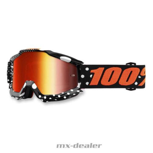 100 /% Prozent Accuri Gaspard verspiegelt MX Motocross Cross Brille MTB 2018 BMX