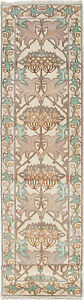 """Hand-knotted Carpet 2'7"""" x 11'7"""" Traditional Vintage Wool Rug...DISCOUNTED!"""