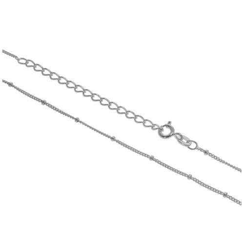 Sterling Silver Bobble Diamond Cut Curb Chain 12-24 Inches