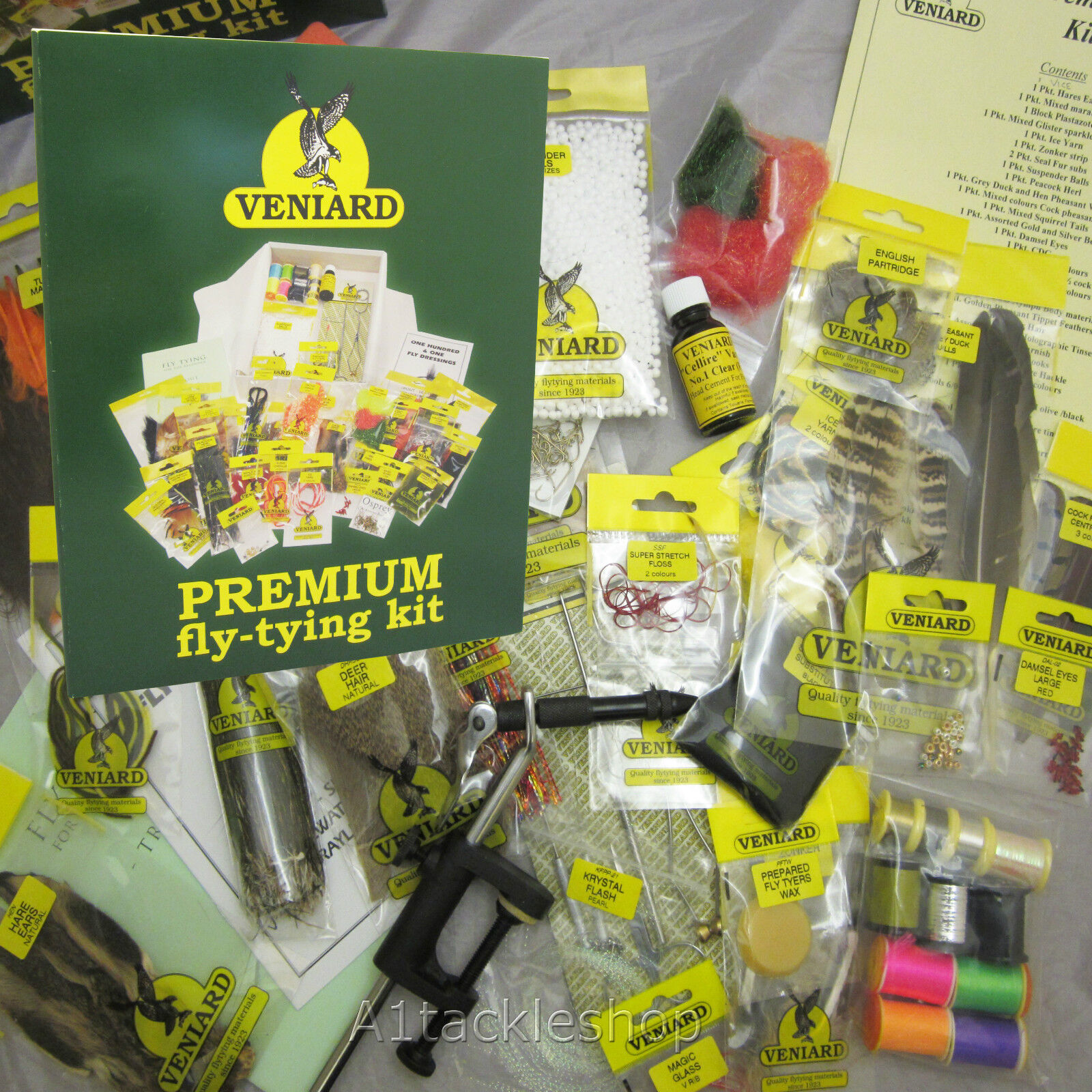 Veniard Premium Fly Tying Kit with Vice for Trout and Salmon Fishing Fly Making