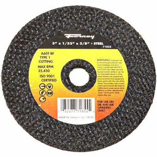 Metal Type 1 Forney 71855 Cut-Off Wheel with 3//8-Inch Arbor